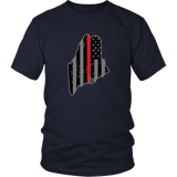 Maine Firefighter Thin Red Line