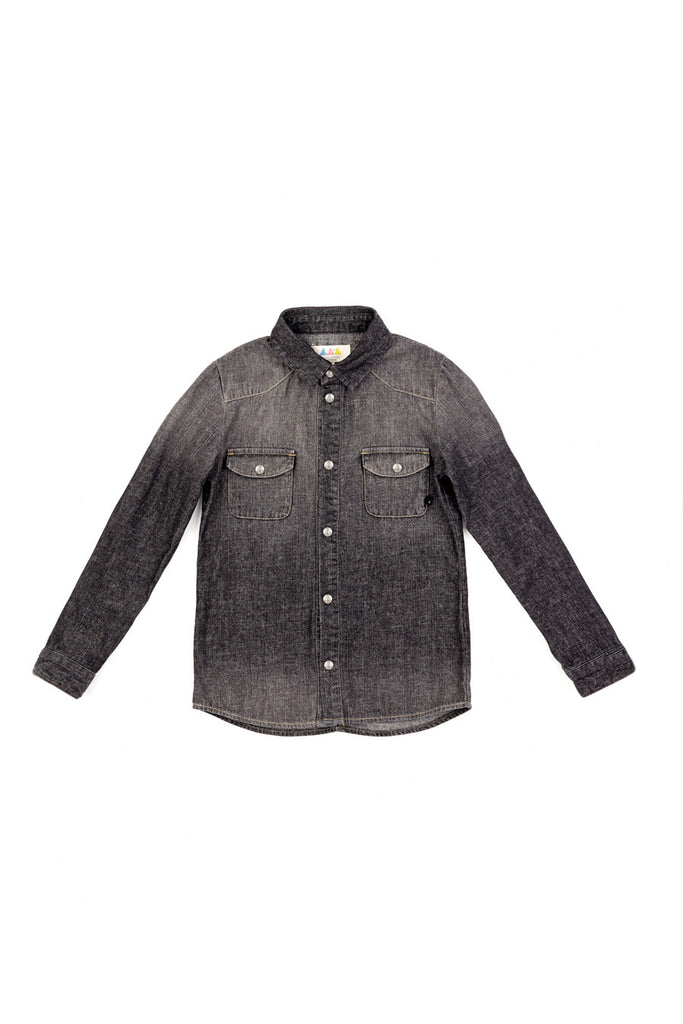 SARA Denim Shirt - ELEVEN PARIS KIDS - 1