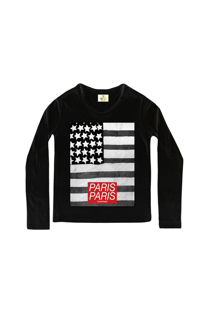 USA PARIS Long Sleeves T-Shirt - ELEVEN PARIS KIDS