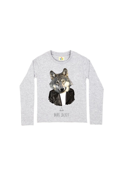 DARK WOLF LS T-Shirt - ELEVEN PARIS KIDS