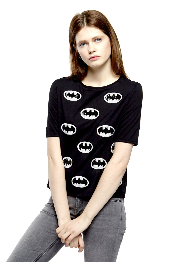 CATMAN Sequin T-Shirt - ELEVEN PARIS WOMEN - 1