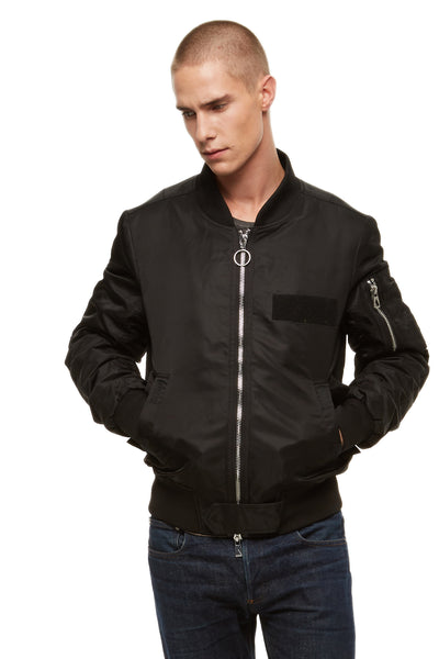 Nuxy Black Bomber Jacket | Eleven Paris