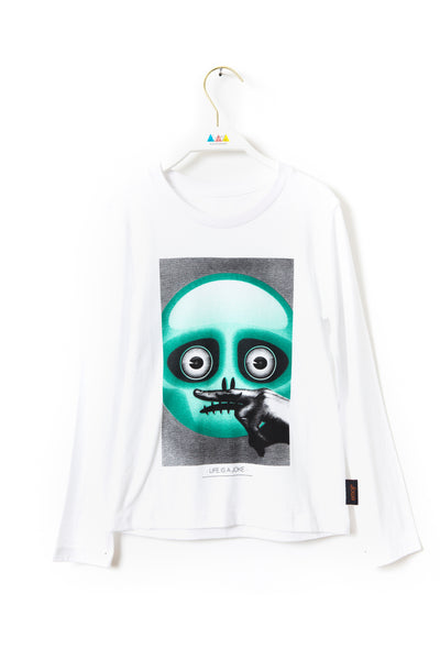 HALLO Emoji Long-Sleeve T-Shirt