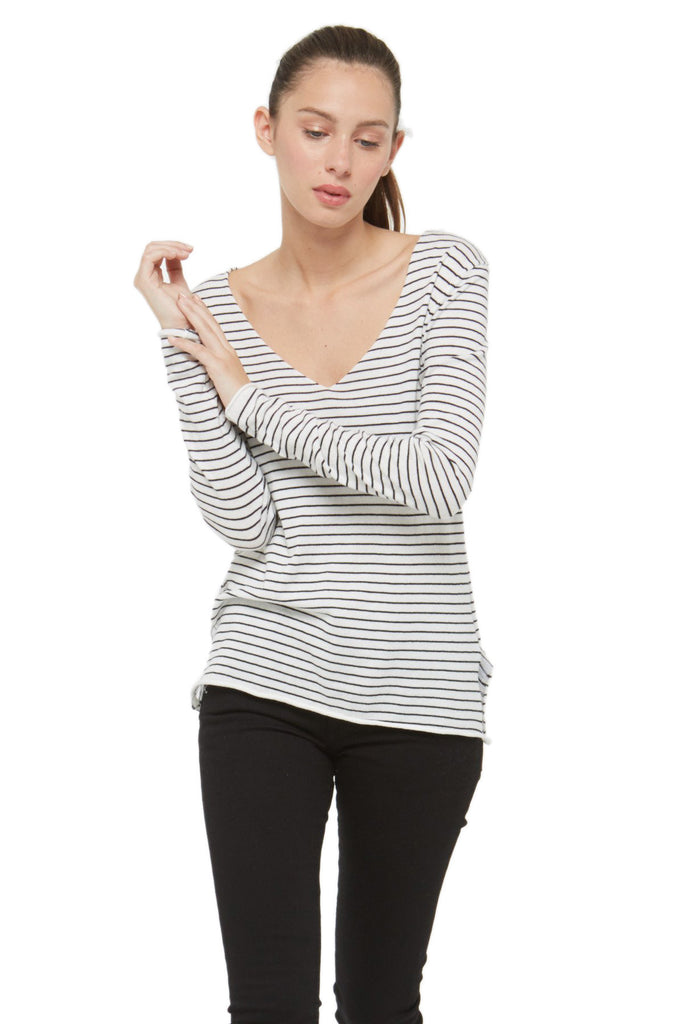 ANNY Striped Sweater