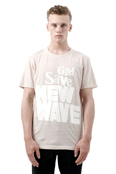 JAVE Striped Graphic T-Shirt