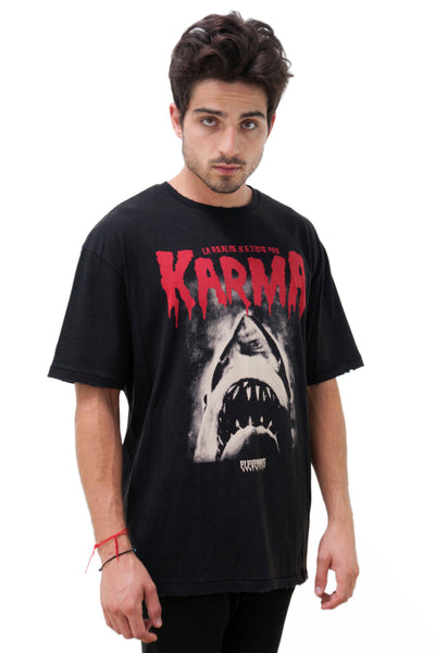 Rarma Graphic Shark T-Shirt | Eleven Paris