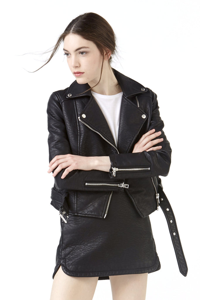 SISTOLS W Faux-Leather Jacket - ELEVEN PARIS WOMEN - 1