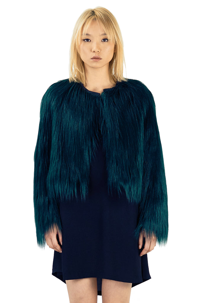 TED Faux Fur Jacket - ELEVEN PARIS WOMEN - 1
