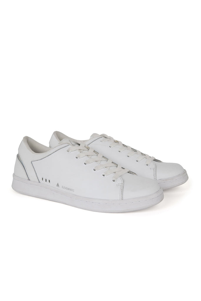 11PRS Monochrome White Shoes - ELEVEN PARIS MEN - 1