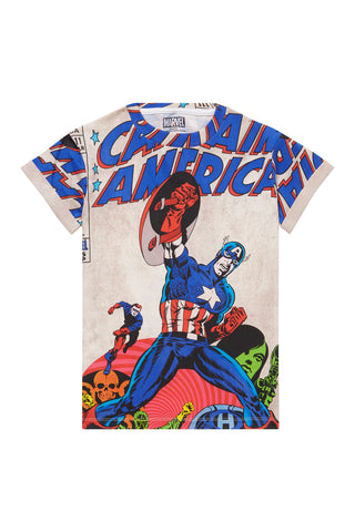 CAPTAIN America All-Over Graphic T-Shirt