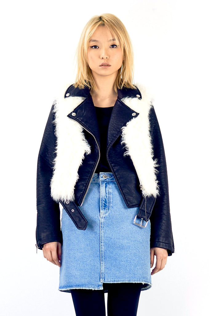 TANZANIE W Faux Fur Vest - ELEVEN PARIS WOMEN - 1