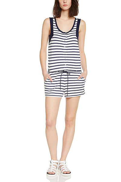 BEVY Striped Romper - ELEVEN PARIS WOMEN - 1