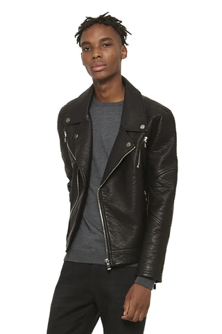ELMUT Faux-Leather Perfecto Jacket