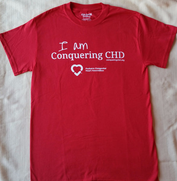 """I am Conquering CHD"" Short Sleeved T-Shirt    (Please allow 2-3 weeks for delivery)"