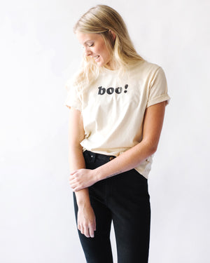 boo! Halloween Tee | cream