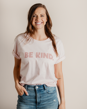 Be Kind Unisex Tee | faded pink