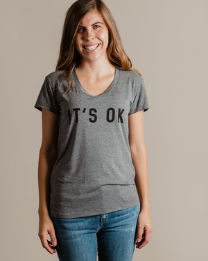 It's Ok Tee | grey