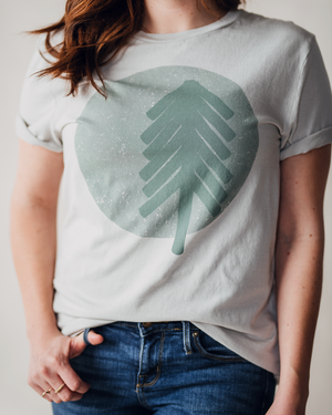 Moon & Pine Tee - Light Grey