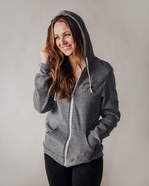 You Do You Zip Hoodie | grey