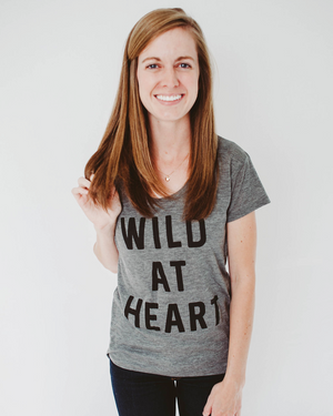 Wild At Heart Burnout Tee | Ash Heather