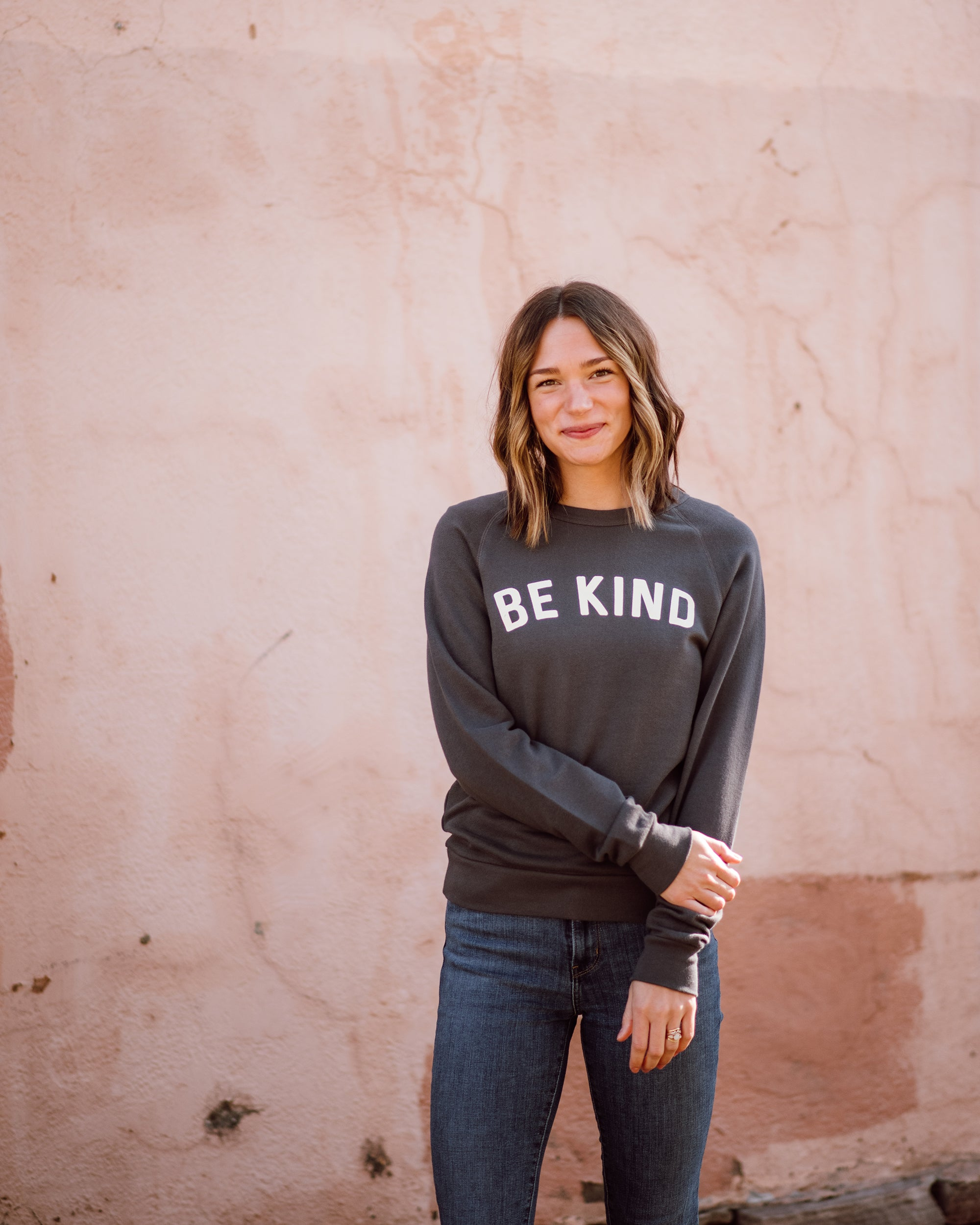 Be Kind Unisex Sweatshirt | dark grey