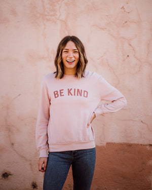 Be Kind Women's Sweatshirt | faded pink