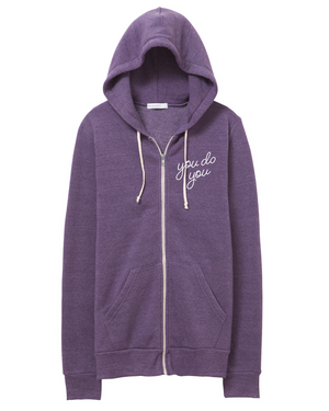 You Do You Zip Hoodie | purple