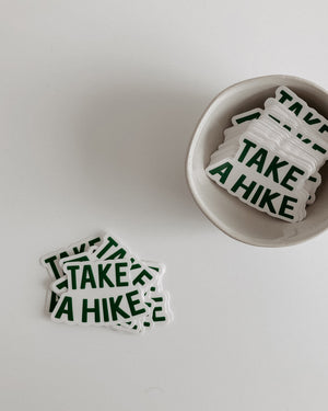 Take A Hike Sticker - small Stickers August Ink