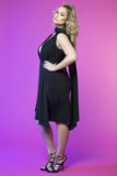 Goddess Drape Dress (Black)