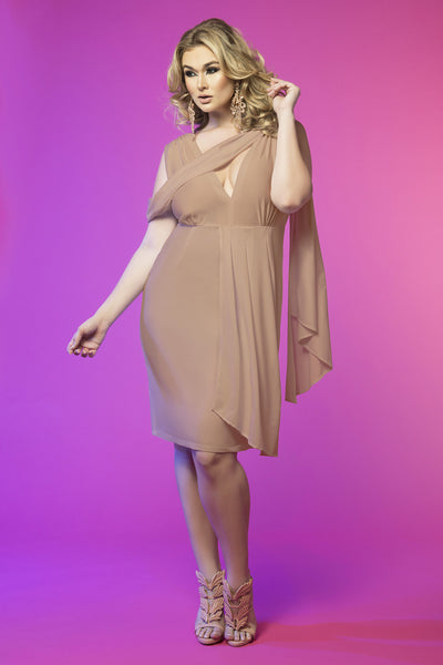 Goddess Drape Dress (Nude)