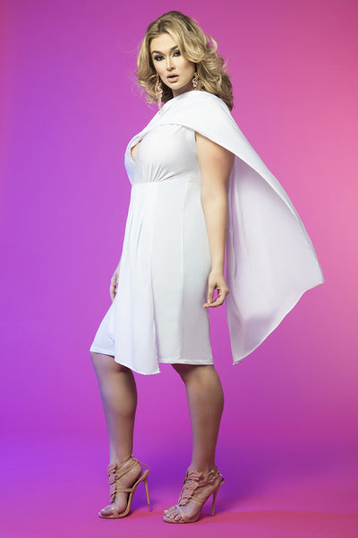 Goddess Drape Dress (White)