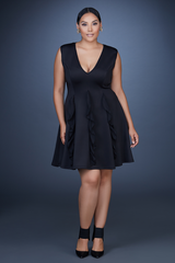 A Line Ruffle Dress- 1 Left