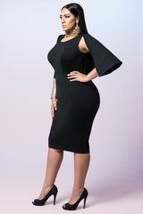 Z BLACK LABEL Mini Cape Dress (SOLD OUT)