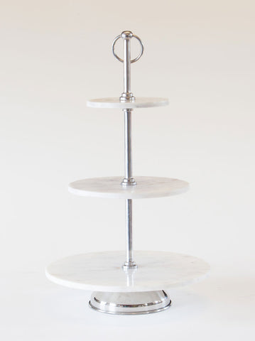3 Tier Marble Cake Stand