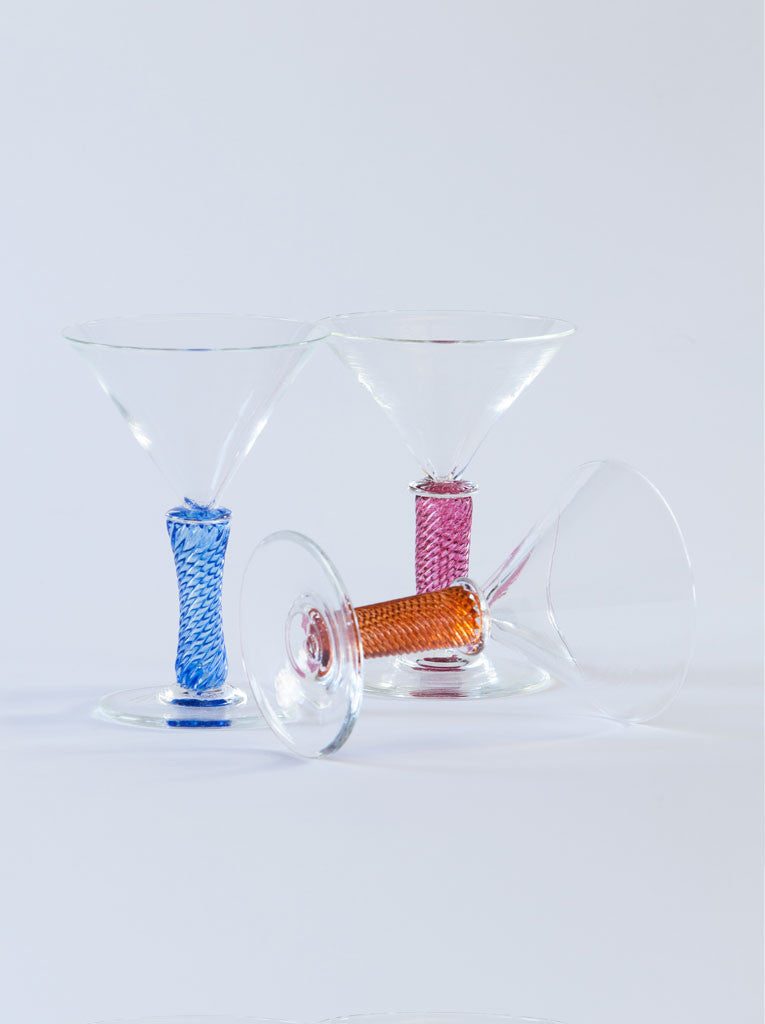 Robert Dane Handblow Nantucket Martini glasses