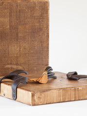 Square Cross Cut Heritage Board with Leather Handles
