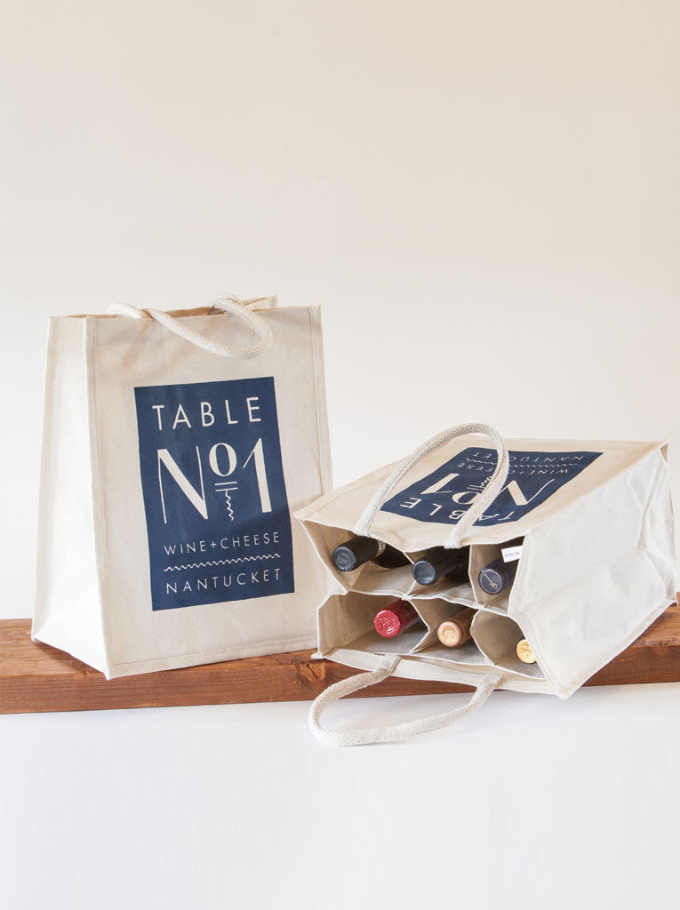 Table No. 1 Canvas 6 Bottle tote/carrier