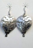 Albuquerque International Balloon Fiesta Silver Earrings by Navajo Indian Designer