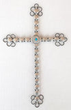 Handcrafted Southwest Silver Concho Wall Crosses