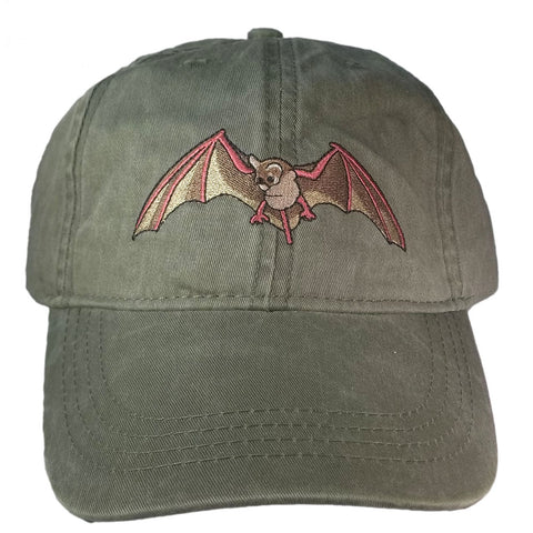 ECO Wear Embroidered Wildlife Mexican Bat Baseball Cap