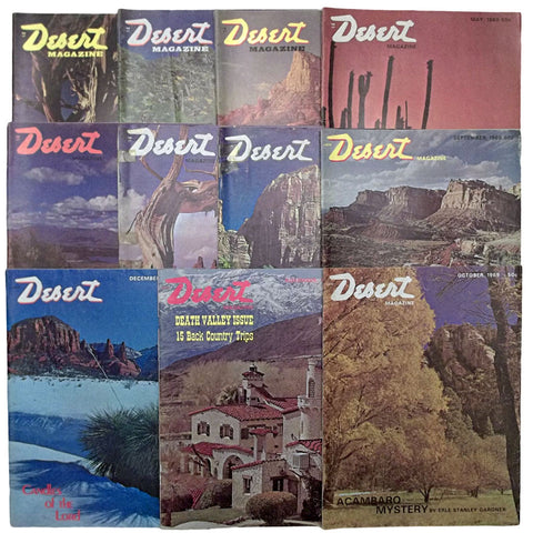 Desert Magazine 1969 Bundle of 11 Issues Erle Stanley Gardner Articles
