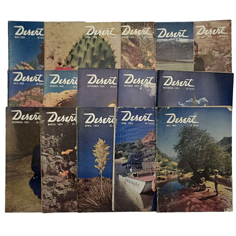 Desert Magazine 15 Vintage Issues 1951 - 1953