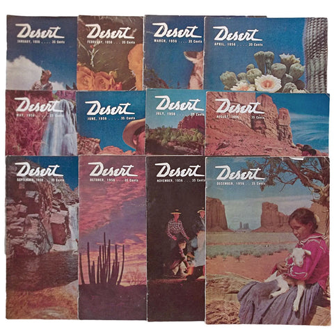 Desert Magazine 1956 Entire Year Set 12 Issues
