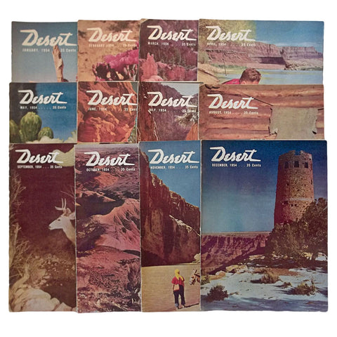 Desert Magazine 1954 Entire Year Set 12 Issues