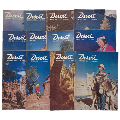 Desert Magazine January - December 1953 12 Issues