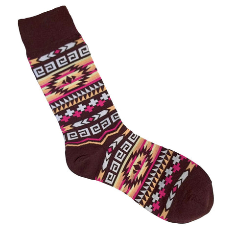 Southwest Bunkhouse Native American Art Men's Socks One Size Fits Most