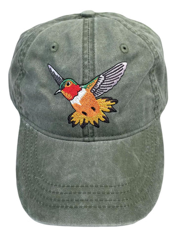 ECO Wear Embroidered Birds of the Southwest Baseball Caps - Assorted Designs
