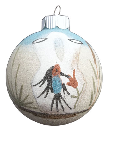Navajo Hummingbird Pottery Wedding Vase Image Sandpainting Ornament