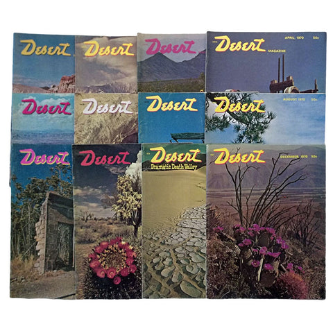 Desert Magazine 1970 Entire Year Set 12 Issues
