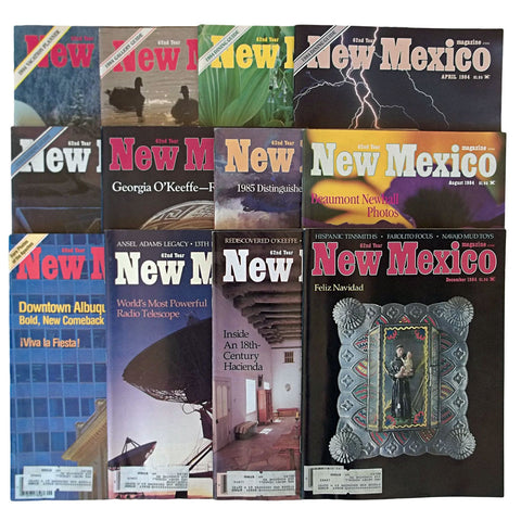 New Mexico Magazine 1984 Full Year Set